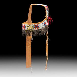 Sioux Beaded Headstall, Collected by Gustav