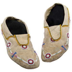 Southern Plains Beaded Moccasins, From an Old Nebraska Collection