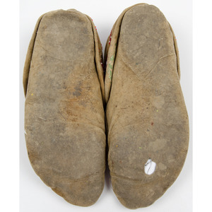 Northeastern Beaded Hide Moccasins, From an Old Nebraska Collection