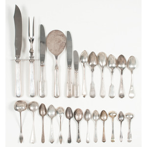 Gorham Sterling-Handled Knives and Assorted Sterling Spoons