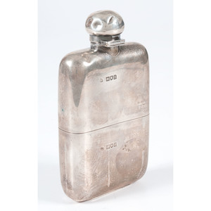 English Sterling Hip Flask