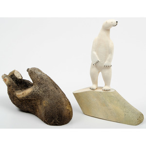 Inuit Whale Bone and Walrus Ivory Carvings