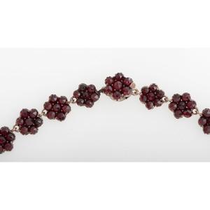 Gilt Metal Bohemian Garnet Necklace