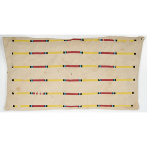 Northern Plains Canvas Beaded Pouch, From an Old Nebraska Collection