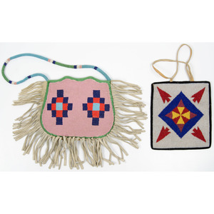 Plateau Beaded Hide Bags, From an Old Nebraska Collection