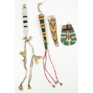 Sioux Beaded Awl Cases PLUS, From an Old Nebraska Collection