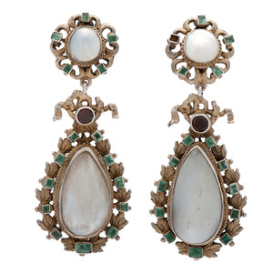 Gilt Austro Hungarian Earrings