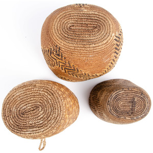 Salish Imbricated Baskets, From an Old Nebraska Collection