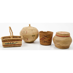 Group of Pacific Northwest Coast Baskets, From an Old Nebraska Collection