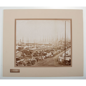 Mammoth Plate Photograph of the Fulton St. Ferry and Dock, New York, by George P. Hall