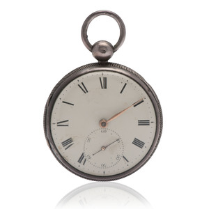 John Robinson Sterling Silver Open Face Pocket Watch Ca. 1803