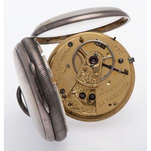 John Robinson Sterling Silver Open Face Pocket Watch Ca. 1803