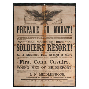 Connecticut 1st Cavalry Prepare to Mount! Broadside