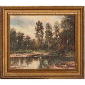 Edward Potthast II (Cincinnati, 1880-1941), Oil