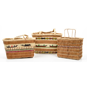Nootka / Makah Imbricated Figural Baskets