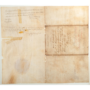 John Adams Presidential Signed Land Grant Issued to Revolutionary War Veteran, Colonel Theodorick Bland, 1st Continental Light Dragoons