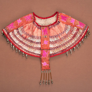 Northern Plains Beaded and Quilled Hide Dance Yoke