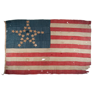 Rare 26-Star American Maritime Flag with Great Star Pattern