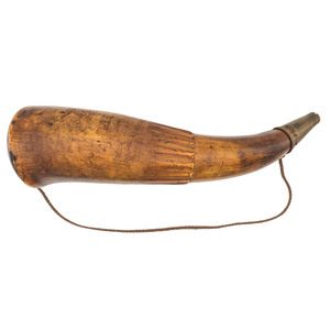 1777 Dated Engraved Powder Horn With Masonic Emblems