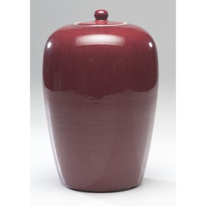 Chinese Flambe Lidded Jar, 19th century