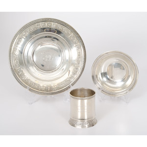 Gorham Sterling Dishes and Mug