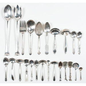 Sterling and Silverplate Ladles and Flatware