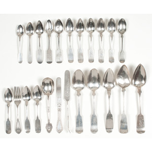 American Coin Silver Flatware, Plus