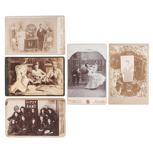Curious Cabinet Cards of Musicians and Performers, Incl.