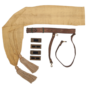 General Officer's Accouterments of Lincoln Assassination Military Tribunal Member Brevet Brigadier General James A. Ekin