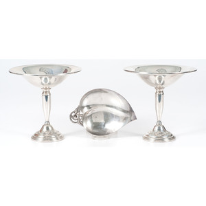 Tiffany Sterling Leaf Dish and Towle Compotes