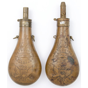 Lot of Two Batty Peace Flasks