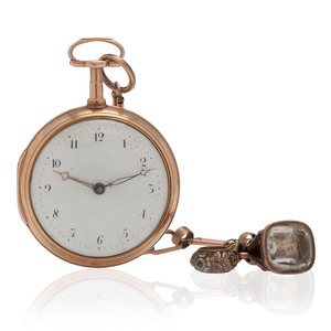 Patton & Jones 18 Karat Yellow Gold Pair Case Pocket Watch Ca. 1802