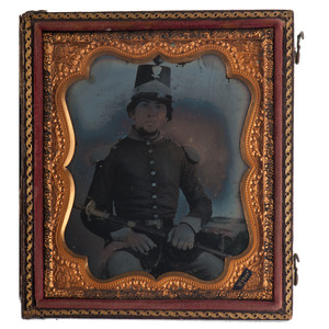 Sixth Plate Ambrotype of Captain George C. Trimble, 11th Virginia Militia, Later Served with 11th West Virginia Infantry
