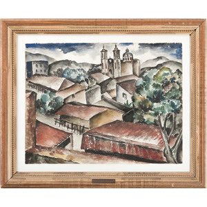 Reginald Grooms (Cincinnati, 1900-1989) and Jessie Grooms (Cincinnati, 1891-1955), Two Watercolors