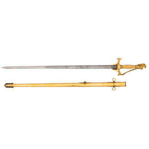 High Grade Ames Militia Officer's Presentation Sword