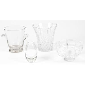 Four Crystal Vases Including  Orrefors