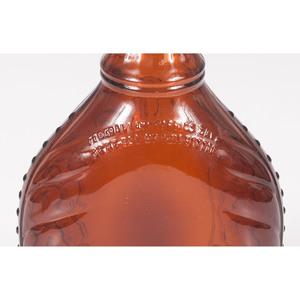 Pair of Amber Glass Liquor Bottles