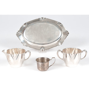 Weidlich  Sterling Creamer, Sugar and Tray, Plus
