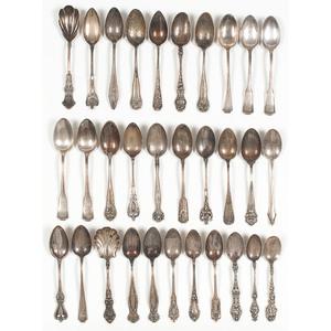 Sterling Silver Teaspoons Including  Gorham