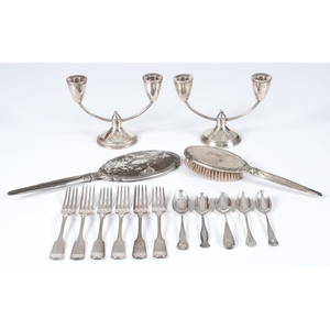 American Sterling Flatware and Candelabra