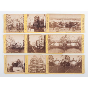 W.M. Chase Collection of Baltimore Stereoviews, Ca 1880s, Incl. the Sesquicentennial Celebration