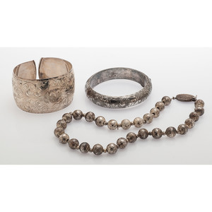 Sterling Silver Necklace and Bracelets