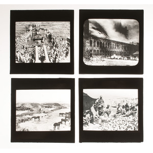 Group of Glass Negatives and Lantern Slides of WWI