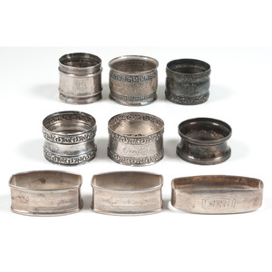 American Sterling Napkin Rings