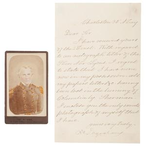 Confederate Naval Officer and Blockade Runner Duncan N. Ingraham, CDV & Letter Referencing Sherman