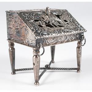 British Imported Silver Miniature Desk