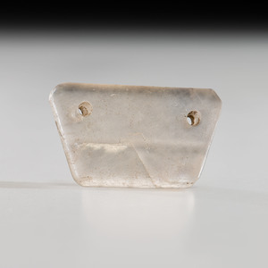 A Clear Fluorite Two-Hole Gorget,1-7/8 in.