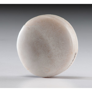 A White Quartz Biscuit Discoidal, 2-1/2 in.