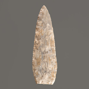 A Fort Payne Chert Triangular Blade, 5 in.