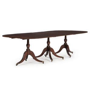 English Regency Pedestal Dining Table